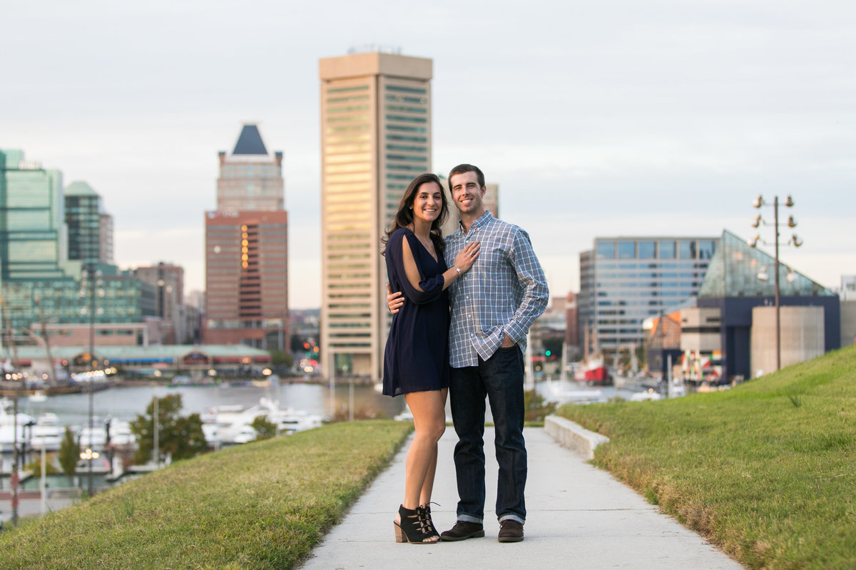 Baltimore-Skyline-Engagement-Session