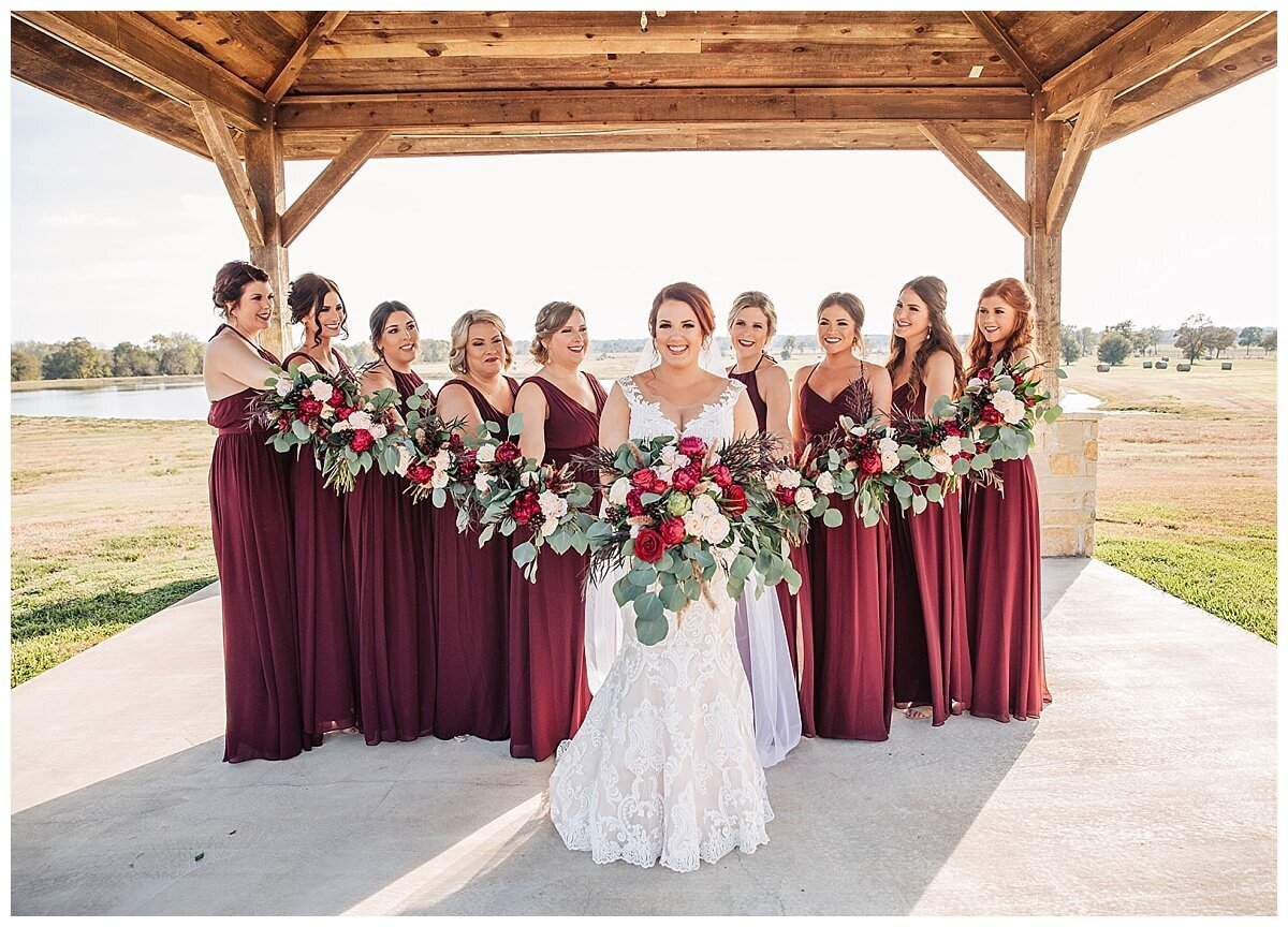 Houston Wedding Planner for Glam Boho Inspired Wedding- Wedding Party Photos at Emery's Buffalo Creek- J Richter Events_0001