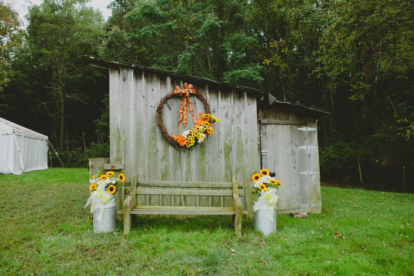 Farm home tent wedding fall rustic16
