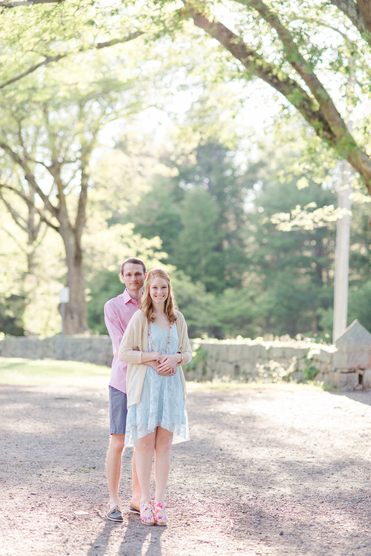 Maudslay state park summer engagement session by Linda Barry Photography.