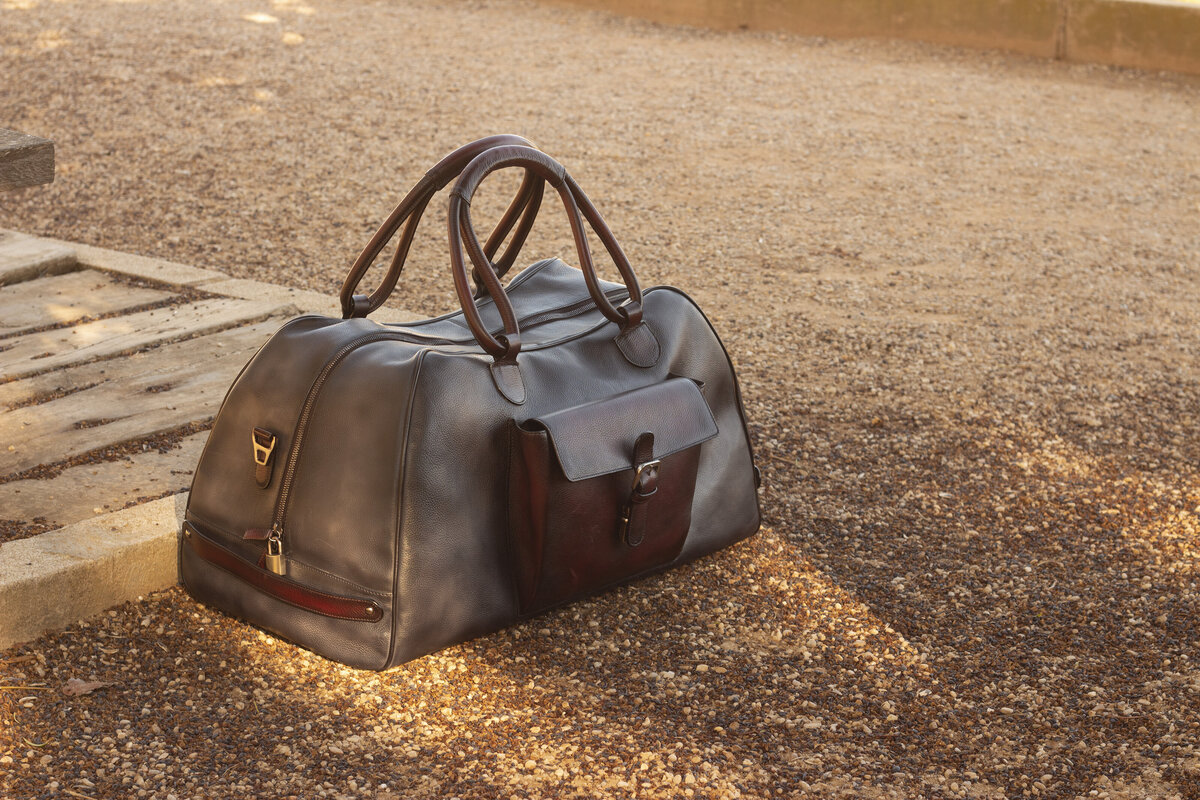 gps-custom-leather-weekender-duffel-bag-grey-red-5