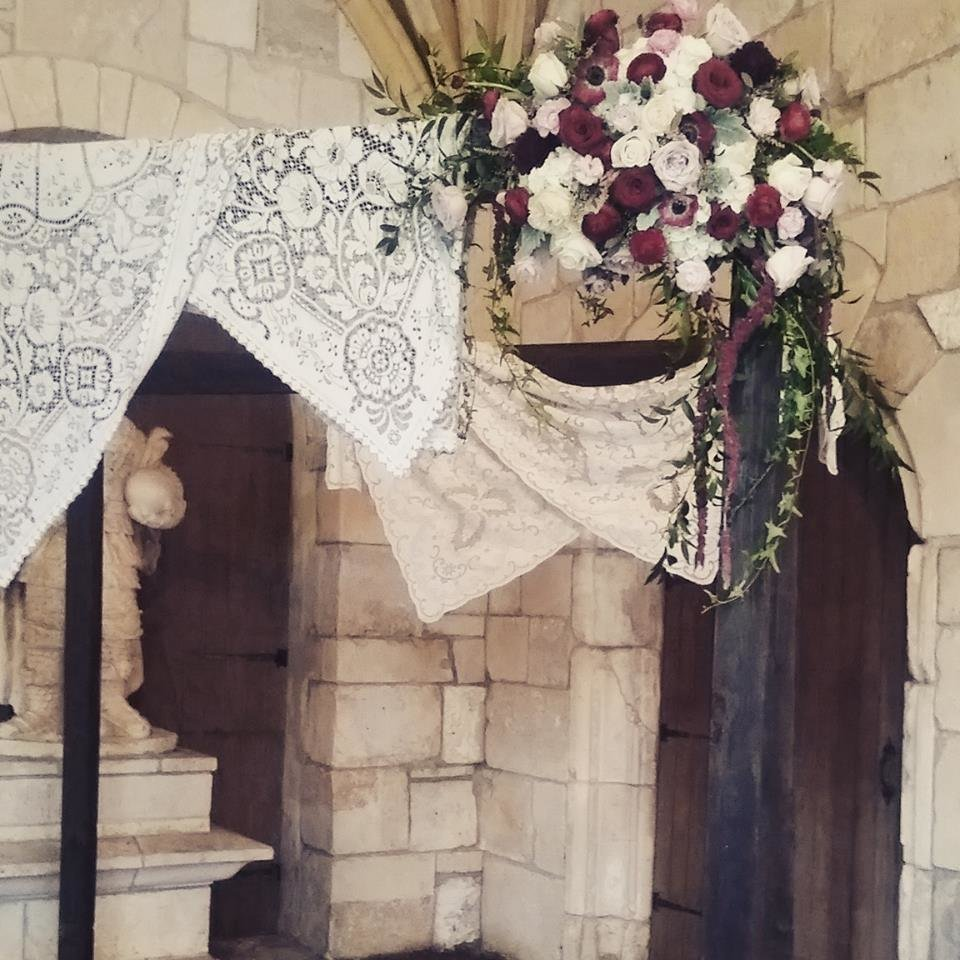 Ancient Spanish Monastery lace chuppah