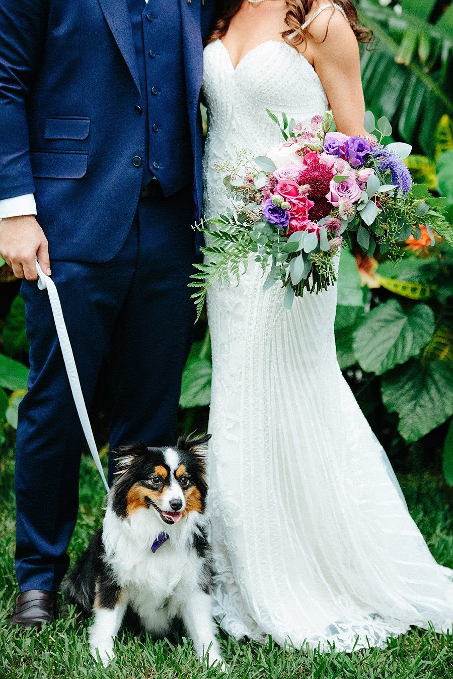 sundy house wedding couple with puppy