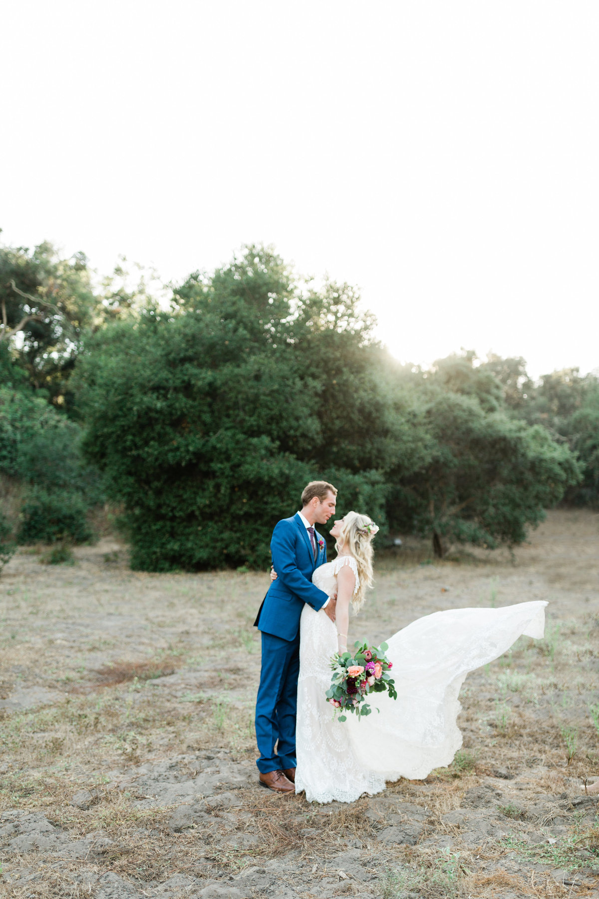 wedding portraits on a private ranch in the hills of arroyo grande