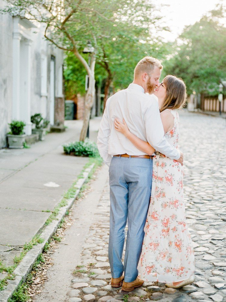 Rebekah Emily Photography Charleston Wedding Photographer Downtown Charleston Engagement Session_0013