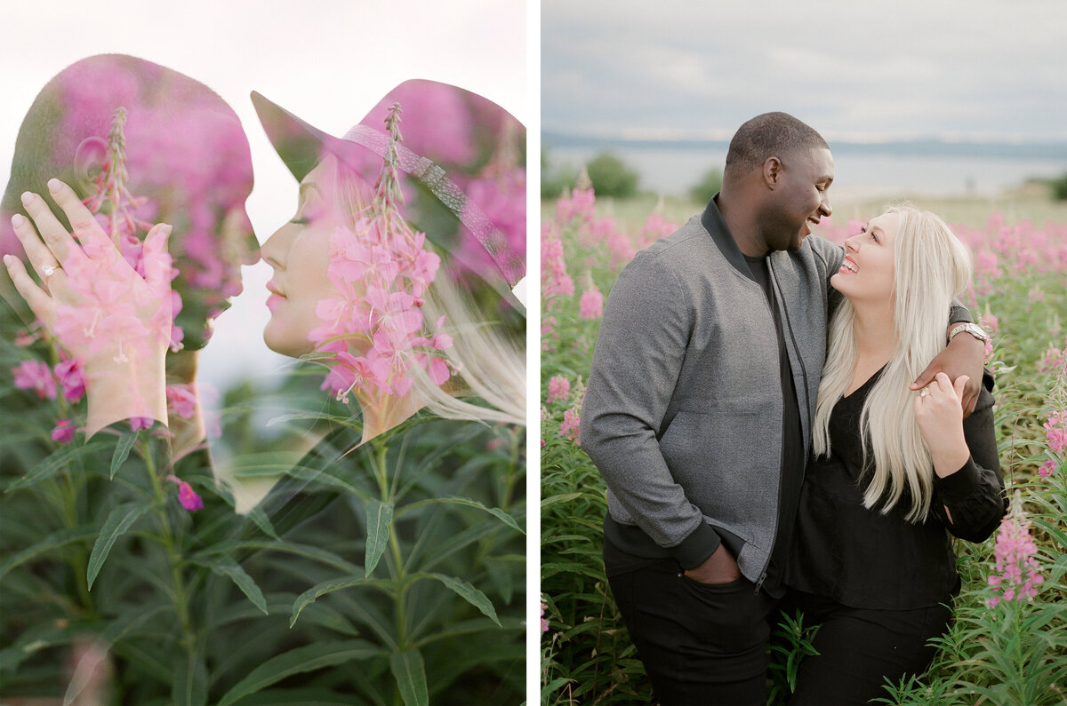 Discovery Park Engagement Session on Film - Tetiana Photography - Fine Art - Light and Airy -3
