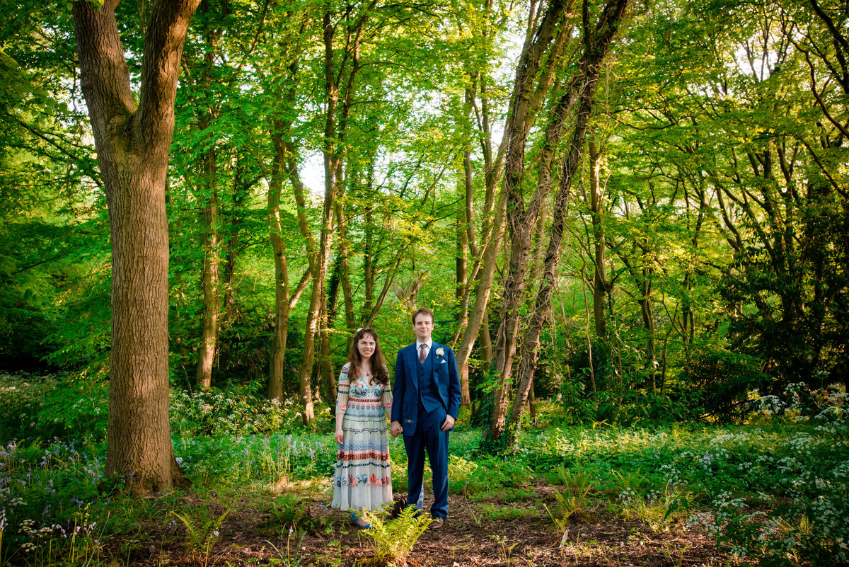 Oxford woods humanist ceremony Oxfordshire wedding photography