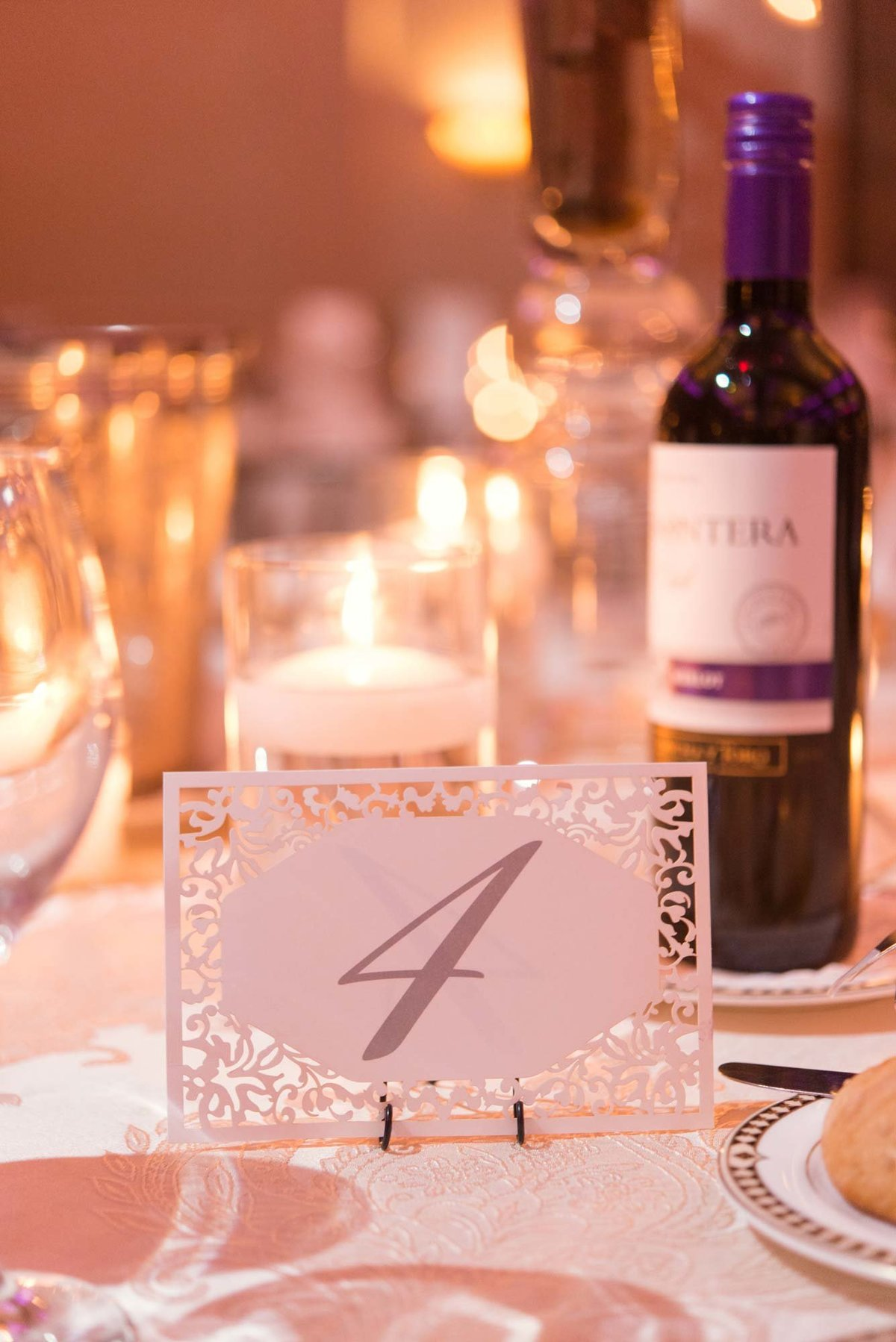 Table number at Larkfield Manor