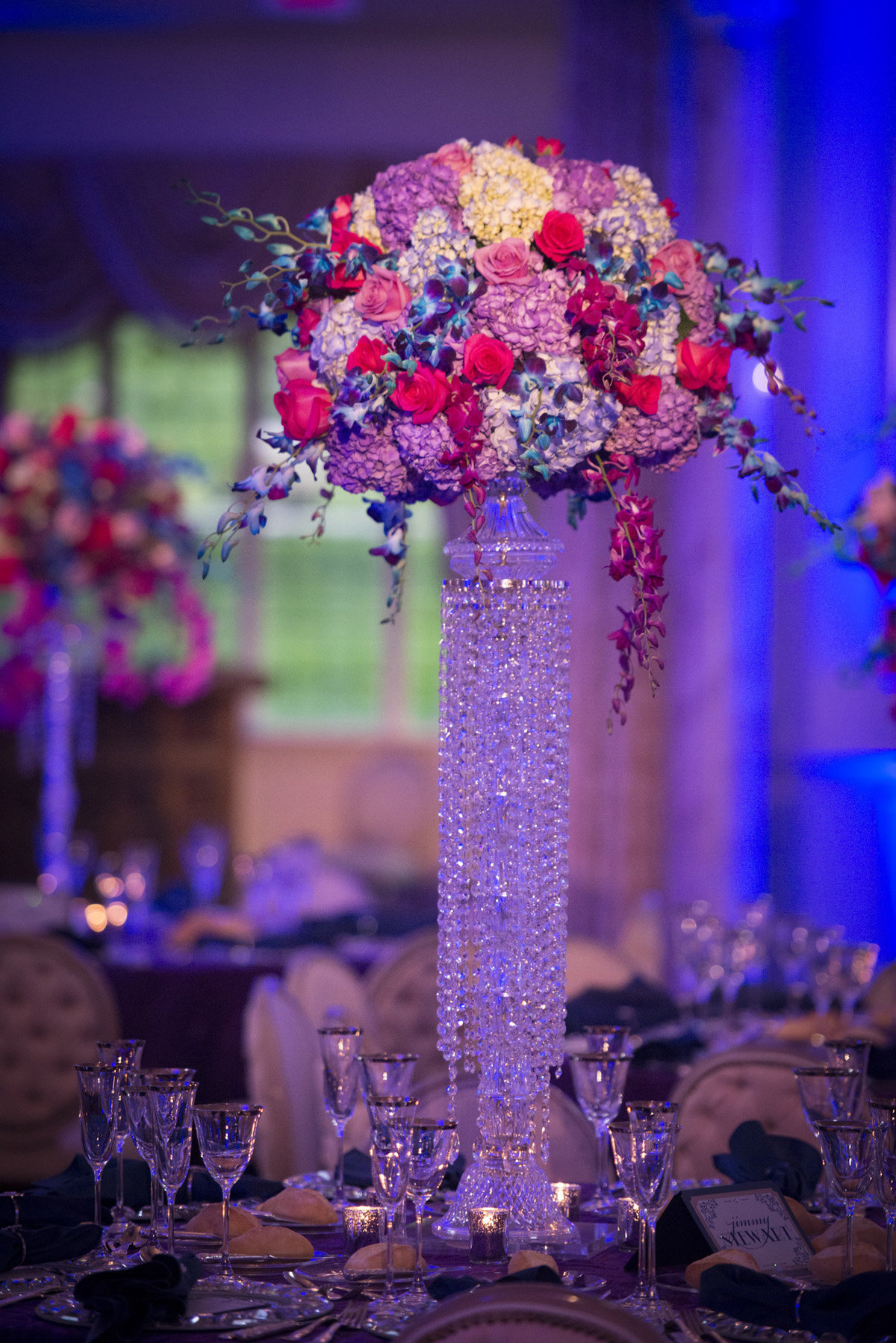 Pleasantdale Chateau Luxury NJ Wedding Purple Blue Pink Silver 14