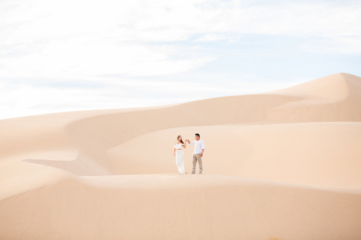 Bride and Groom Dancing on Sand Dunes in Glamis