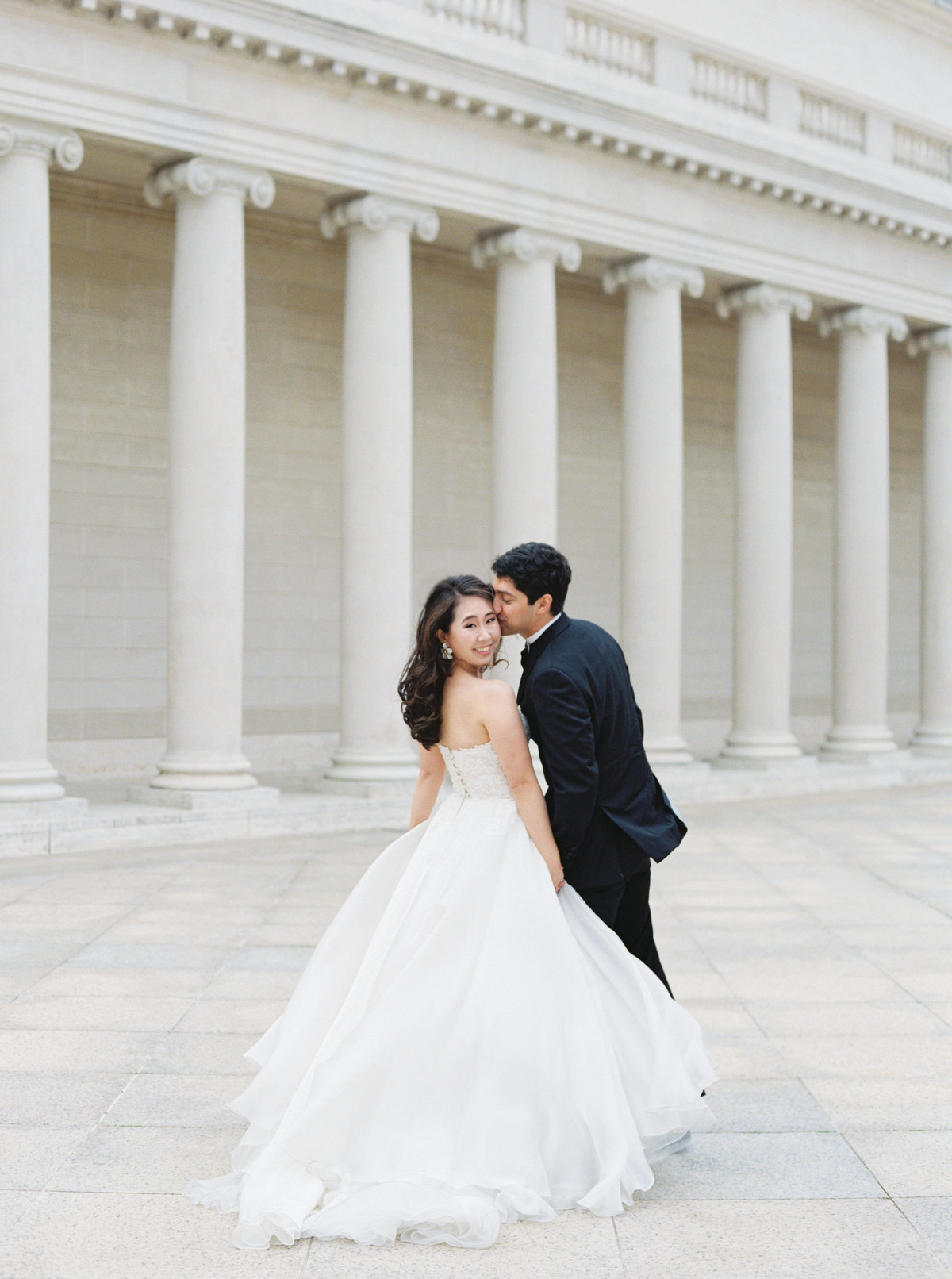 Diana + Pablo San Francisco California Legion of Honor Museum Wedding Session | Cassie Valente Photography 0023