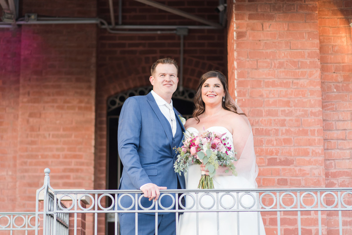 Newlywed Portraits Cait Potter Creative LLC Milltop Potters Bridge Noblesville Square Courthouse Wedding-49