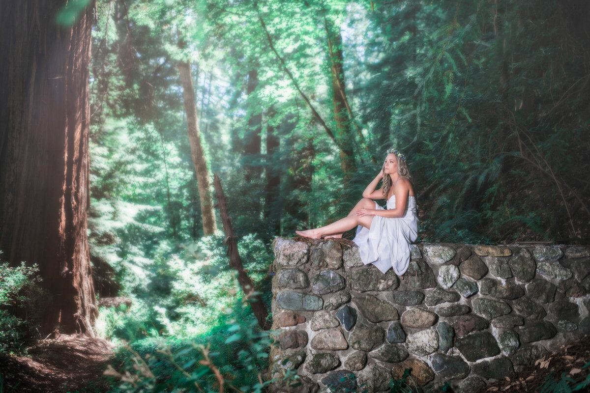 Adventure-Bridal-Humboldt-County-Redwood-Forest-Parky's Pics- bride-in-the-redwoods-2