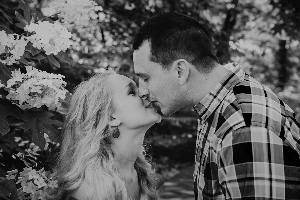 Birmingham, AL, black-and-white engagement session, BANG Images