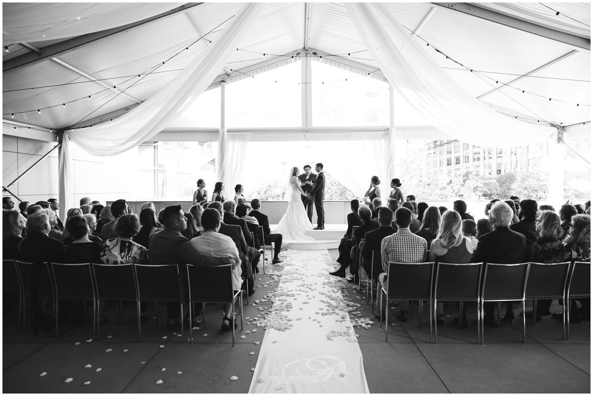 Austin wedding photographer w hotel wedding photographer ceremony wide angle