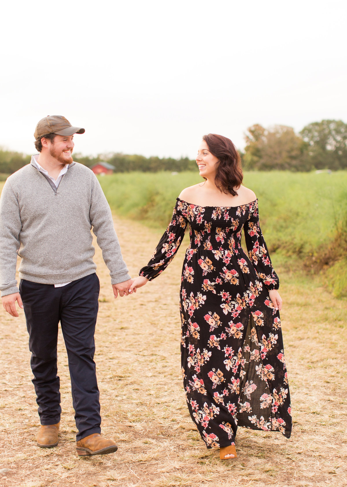Snead's Farm engagement by Marie Hamilton Photography