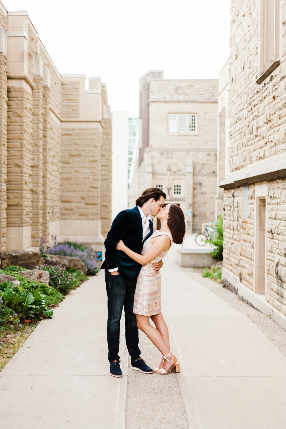 Western University Campus Engagement Session in London Ontario by Dylan and Sandra Photography
