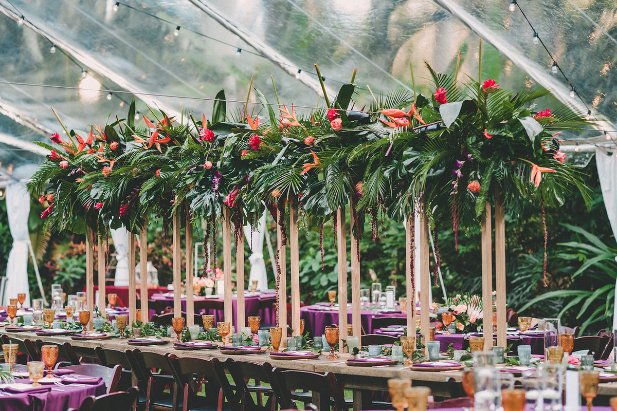 Bright Tropical Tent Wedding