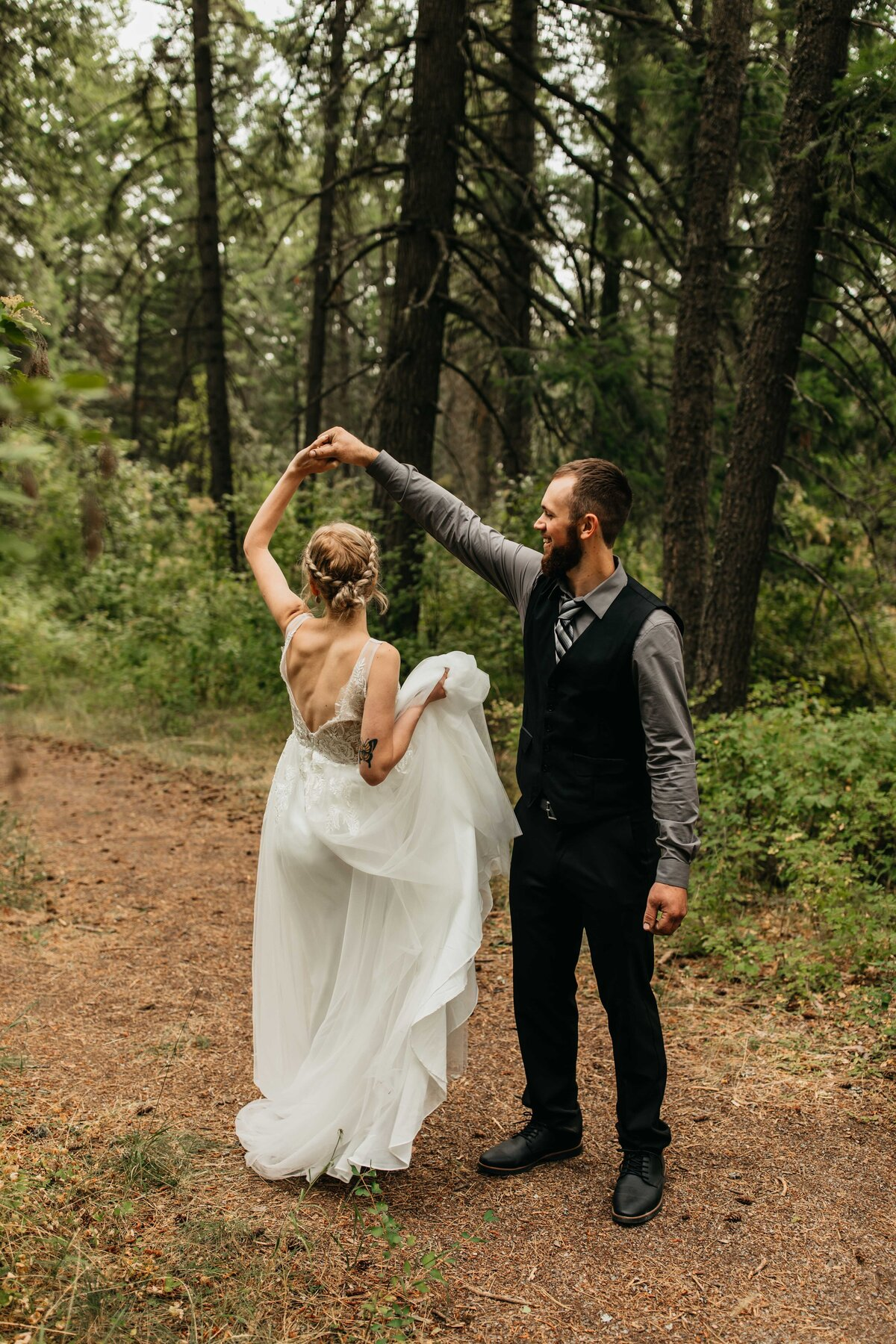 Elopement and Backyard Wedding Photographer in Hayden Idaho, English Point Elopement - Clara Jay Photo_-7