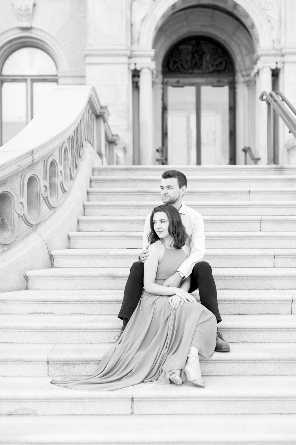 Deanna & Grant | Capital Building Engagement Session | DC Wedding Photographer | Taylor Rose Photography-95