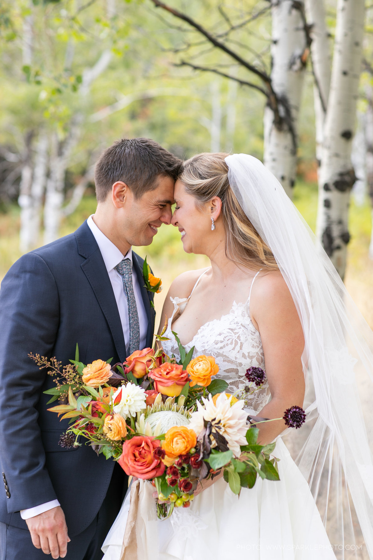Utah Florist_Sundance_wedings_Orange Bouquet_Luxe Mountain_Weddings_Artisan Bloom--8