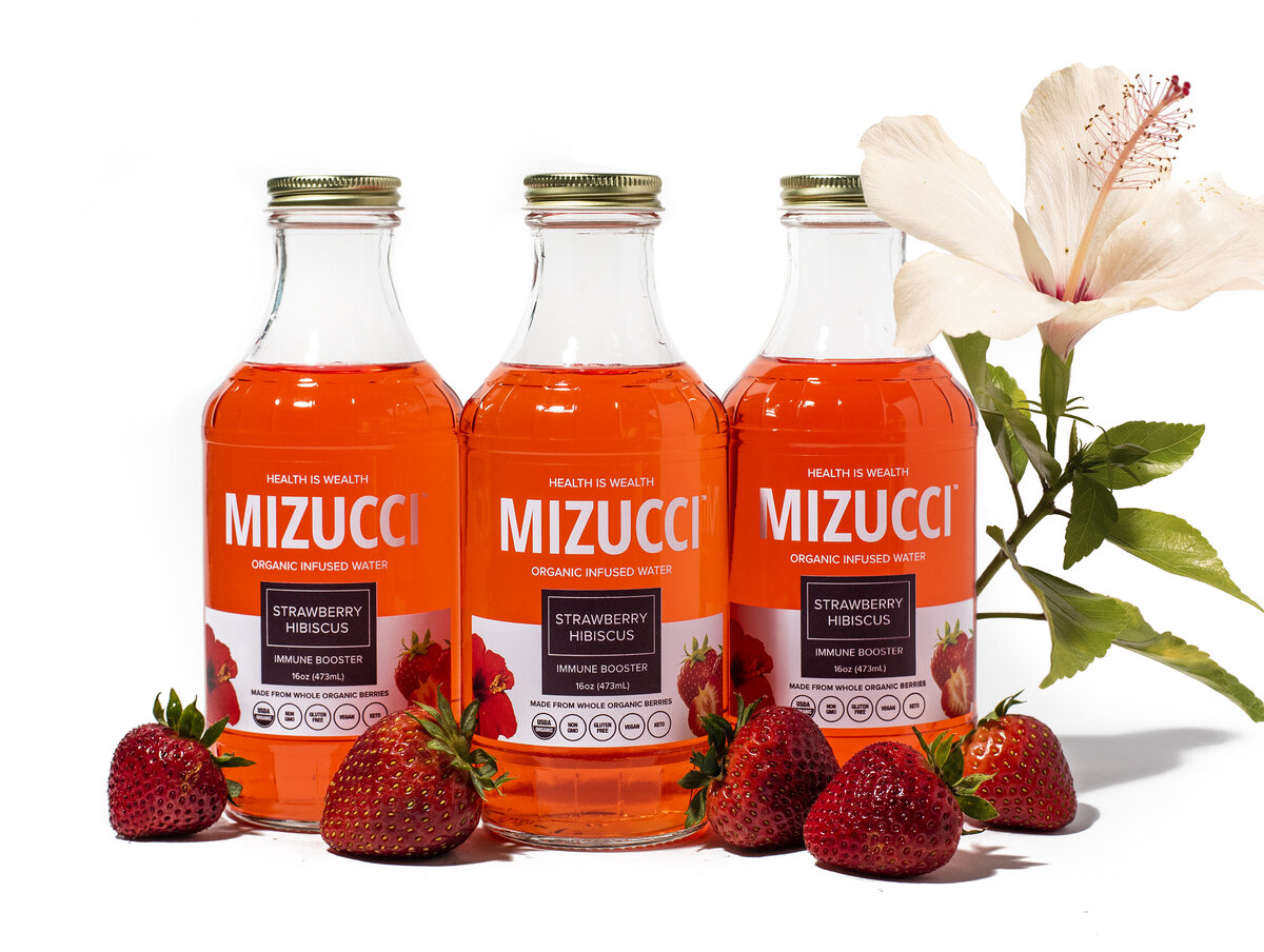 mizucci infused water product photography