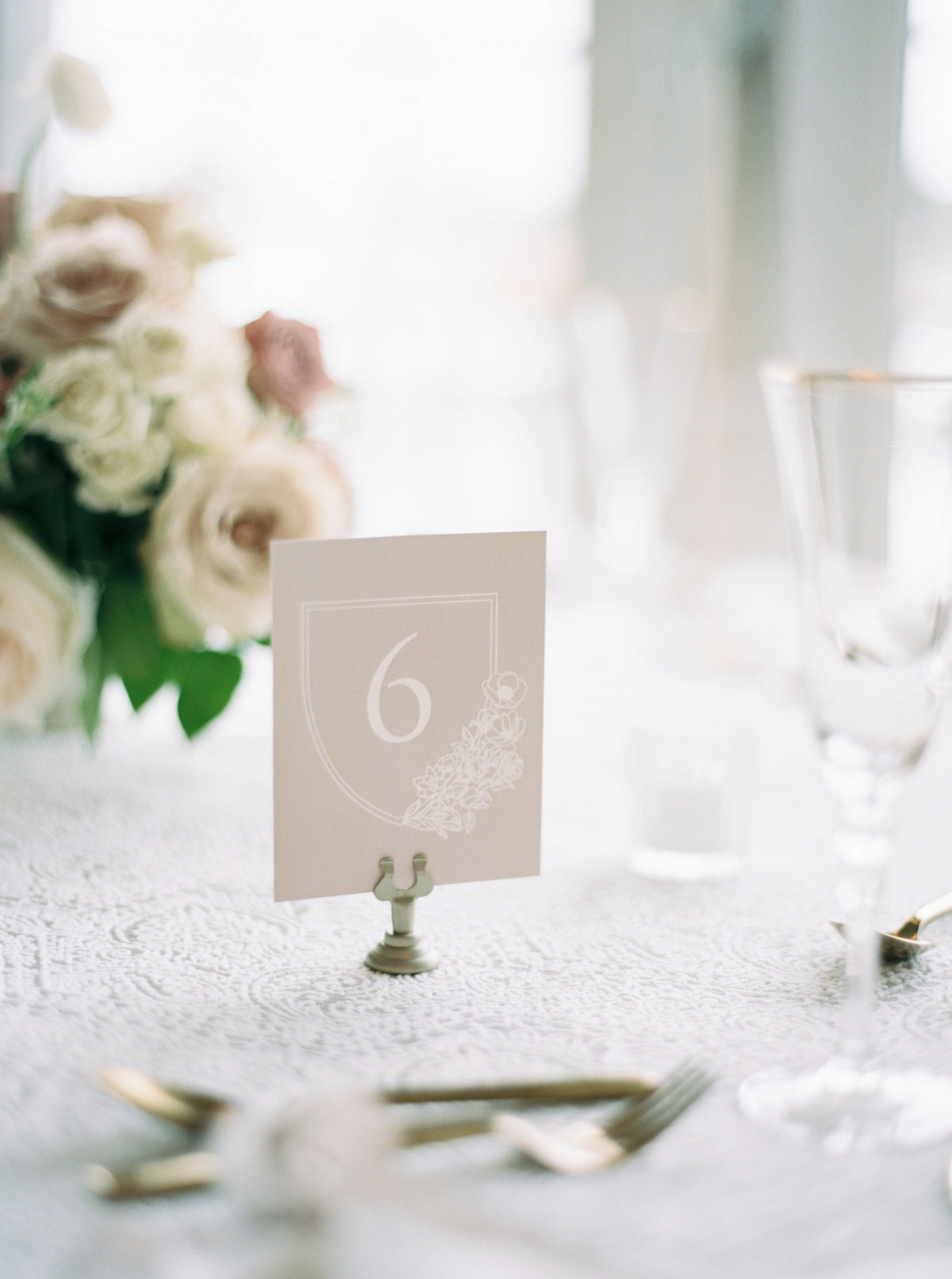 Table numbers at wychmere beach club