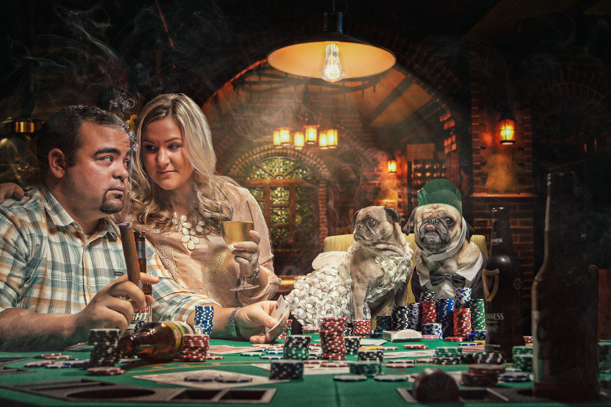 unique poker engagement photo