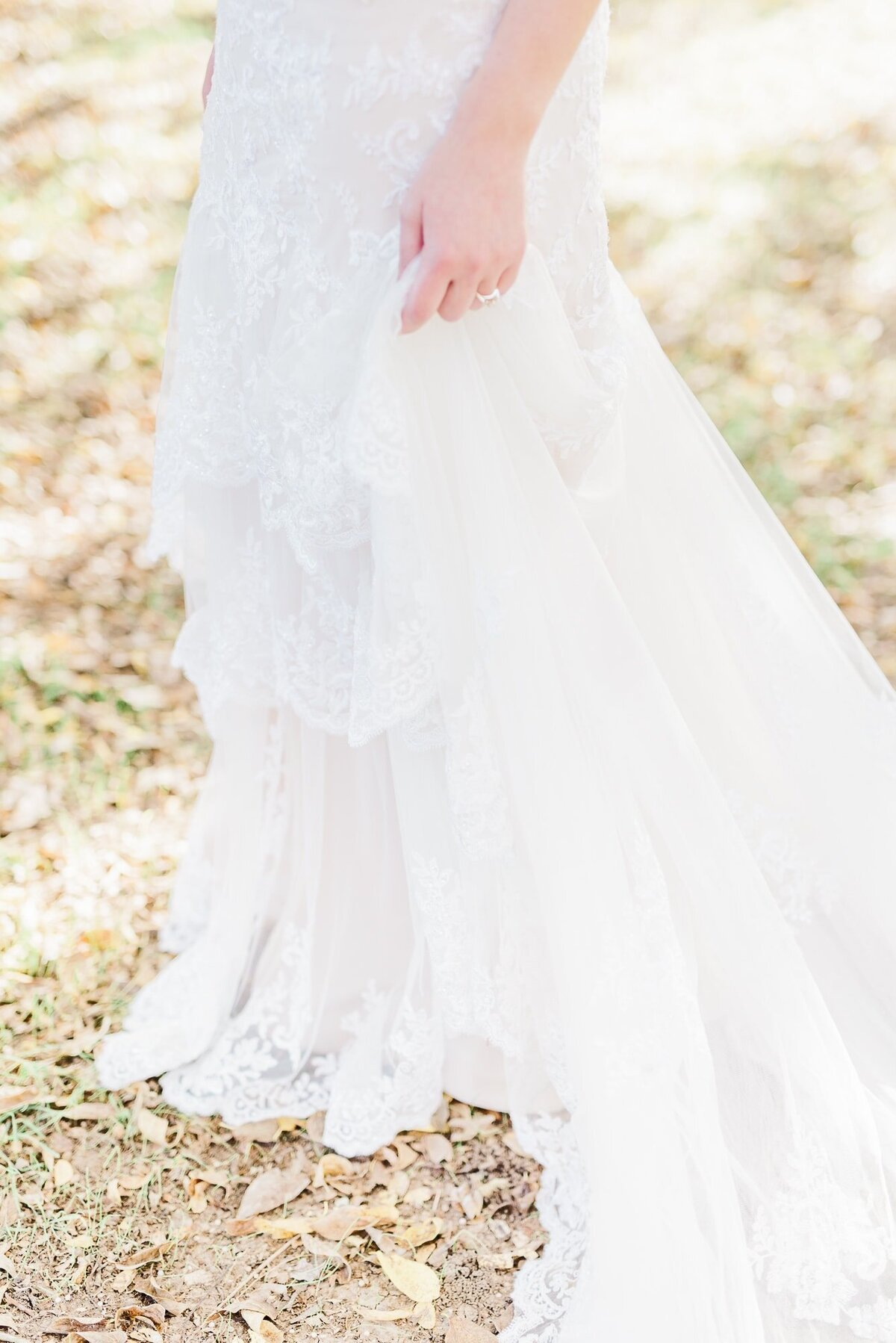 Dallas bride in wedding dress