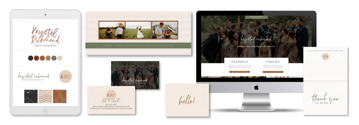 Brand and Showit Website Design for Krystal Richmond Photography