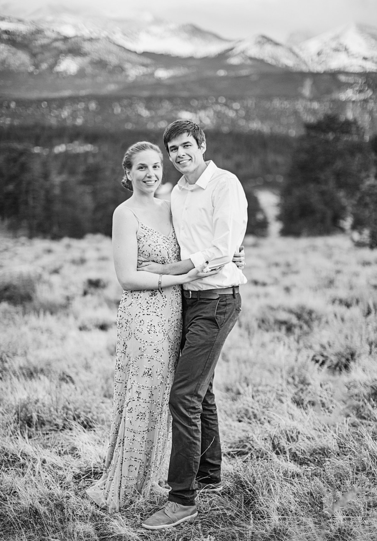 engaged couple colorado engagement photos