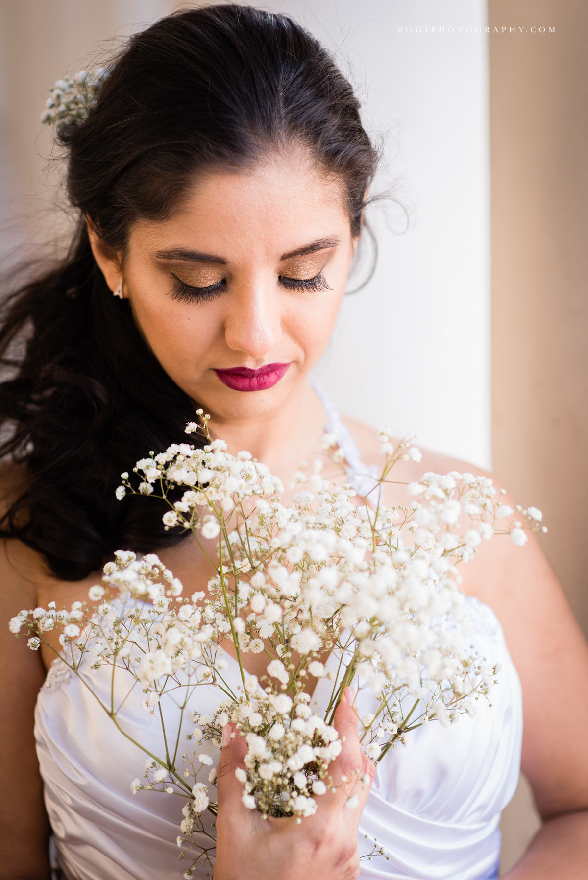 Natalie Setareh Makeup Artist Bride Babys Breath
