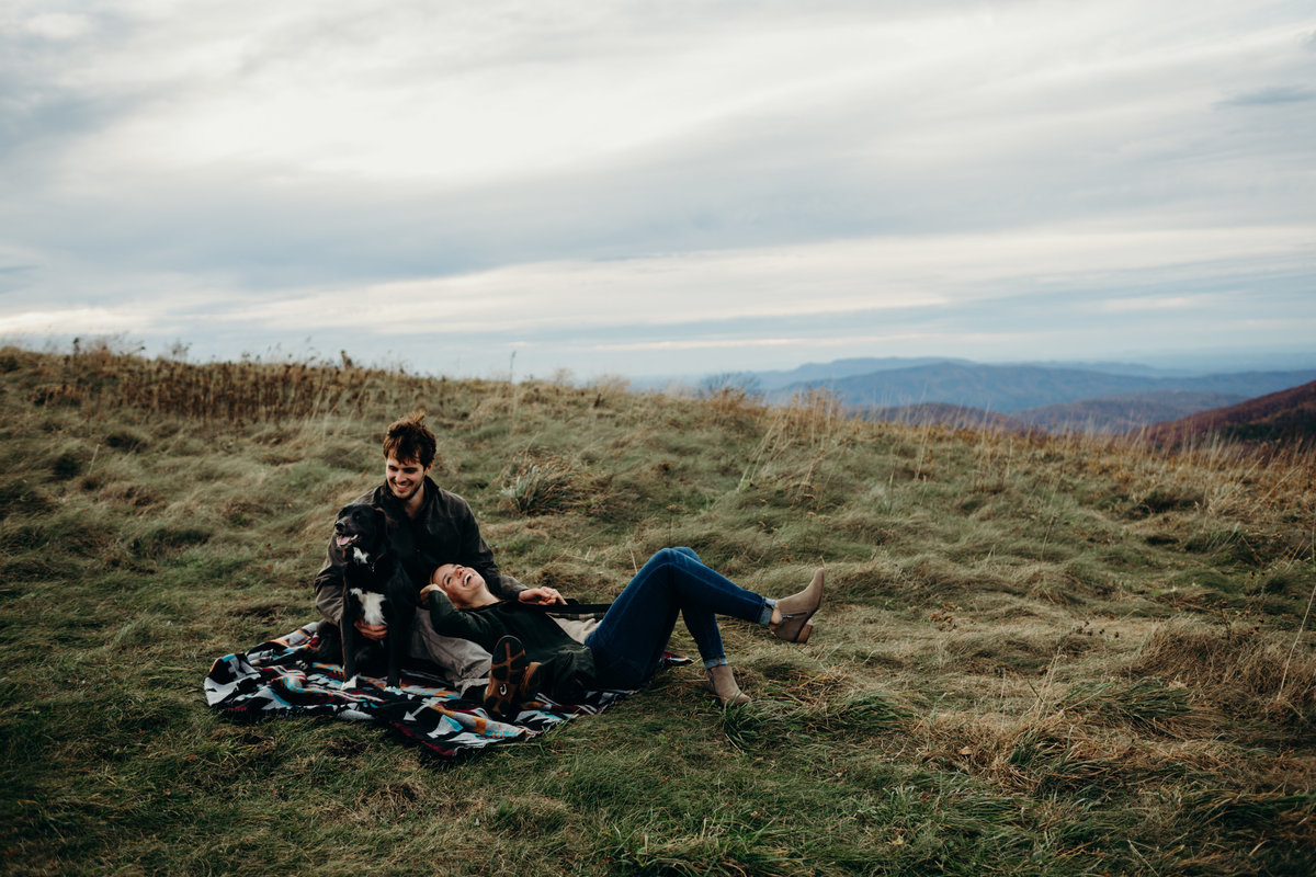 Max Patch engagement session by Greenville wedding Photographer Simply Violet Photography