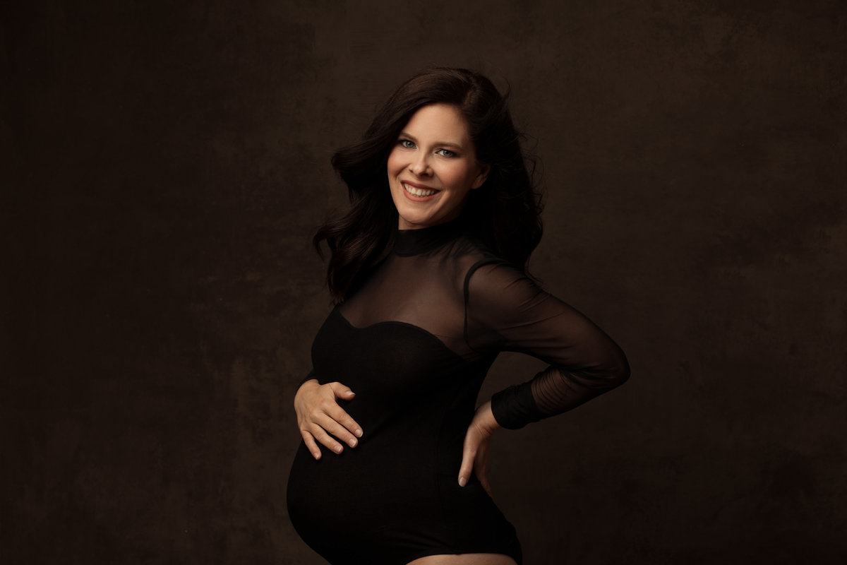 Felicia Reed Photography-Round Rock, Tx-Maternity-Modern Portraits-Turtle Neck-Black Bodysuit