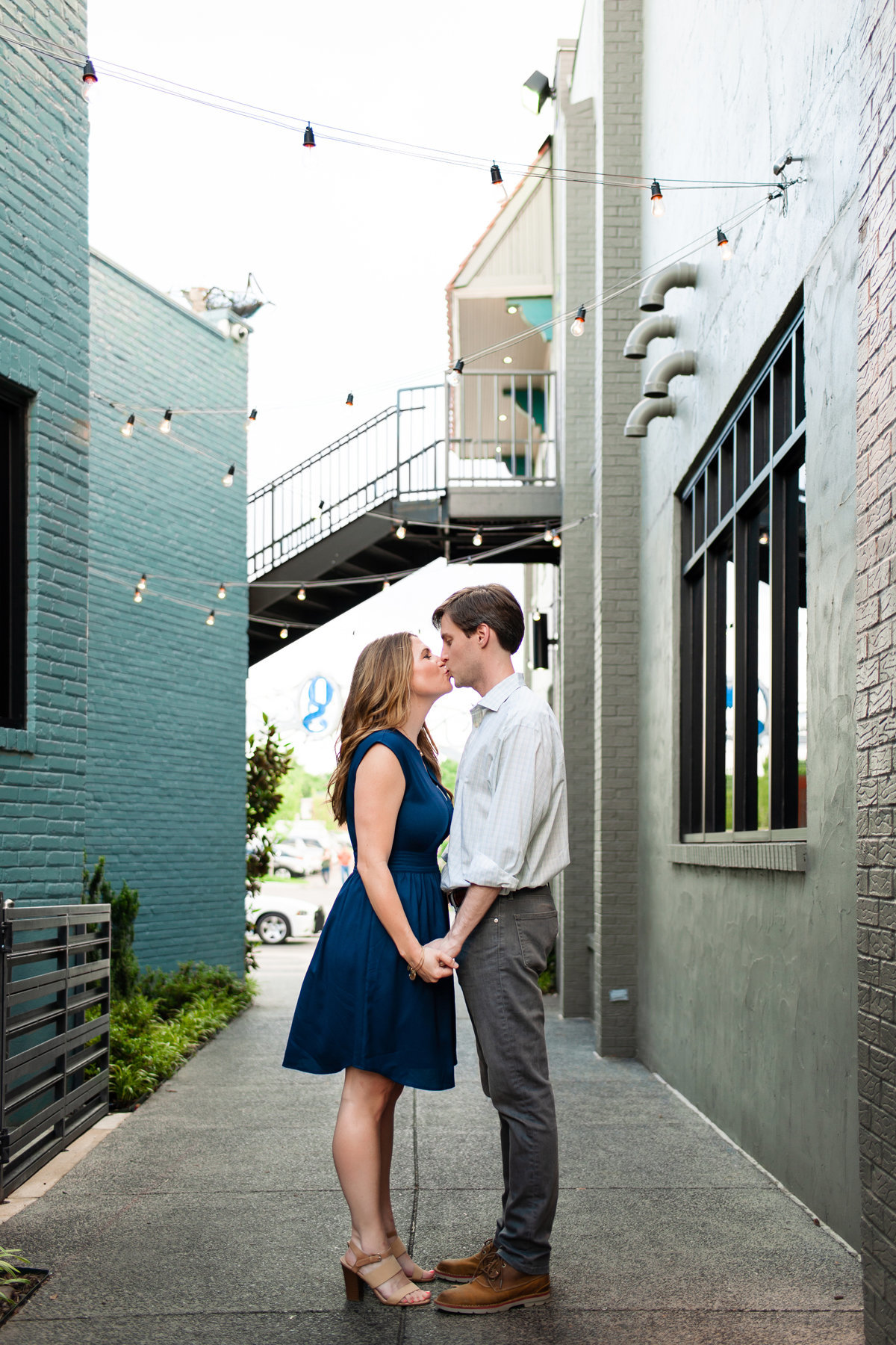 overton square alley engagement session