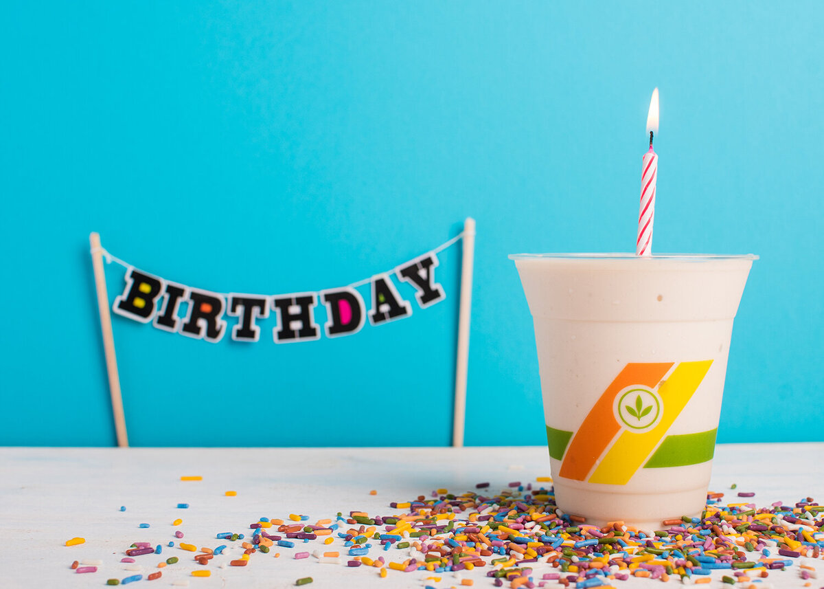 plant power fast food birthday cake milkshake