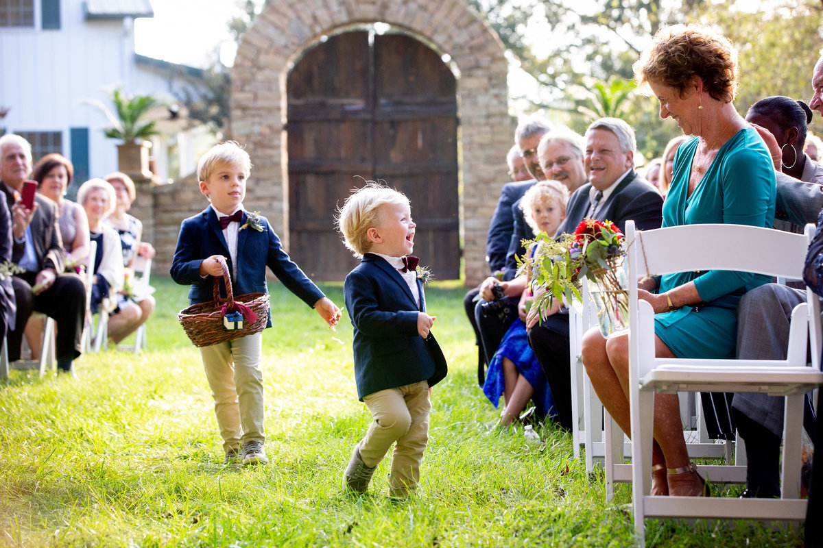Ringbearers at a Mountain View Farm wedding