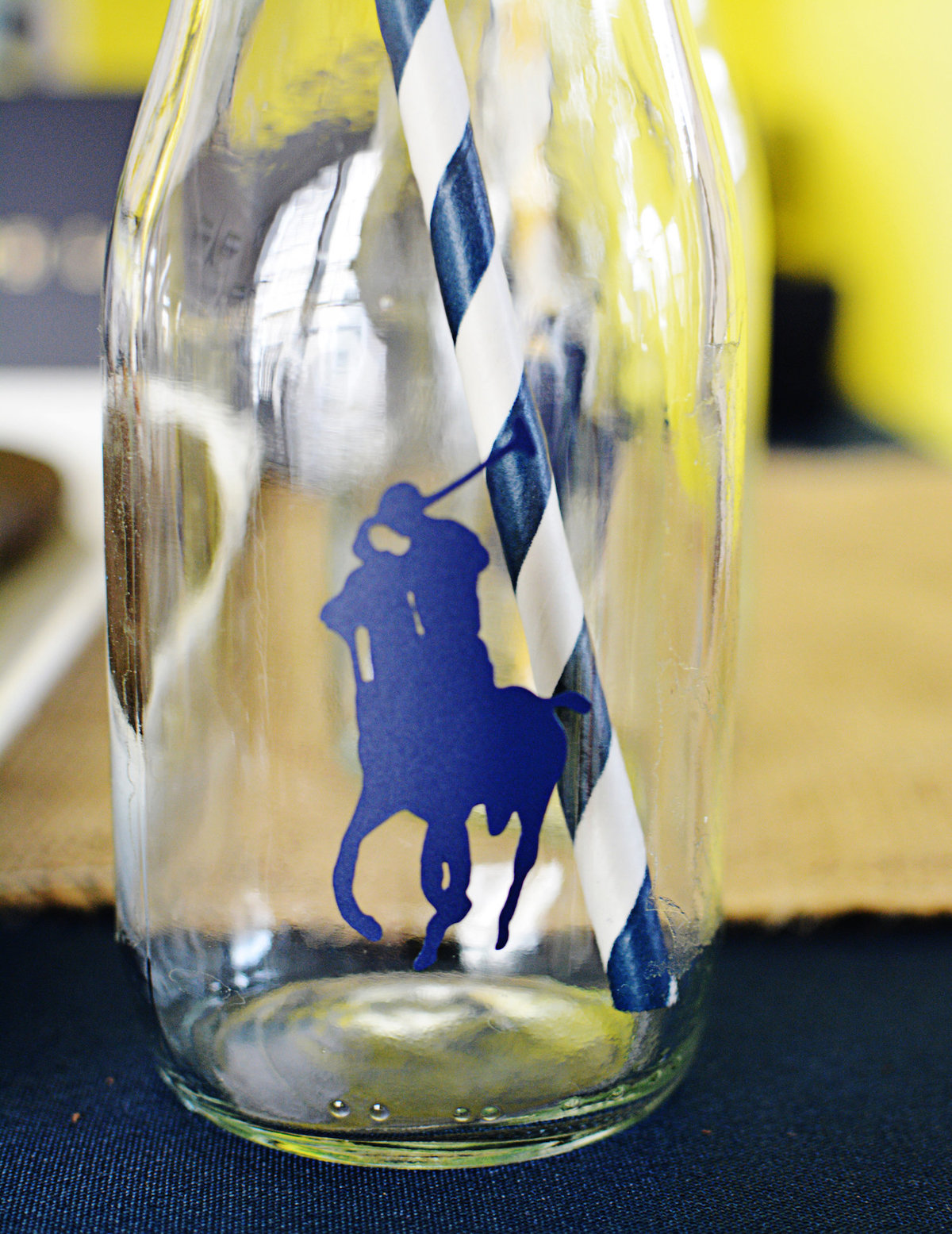 Sparkling Events Designs - Polo Club Milk bottle