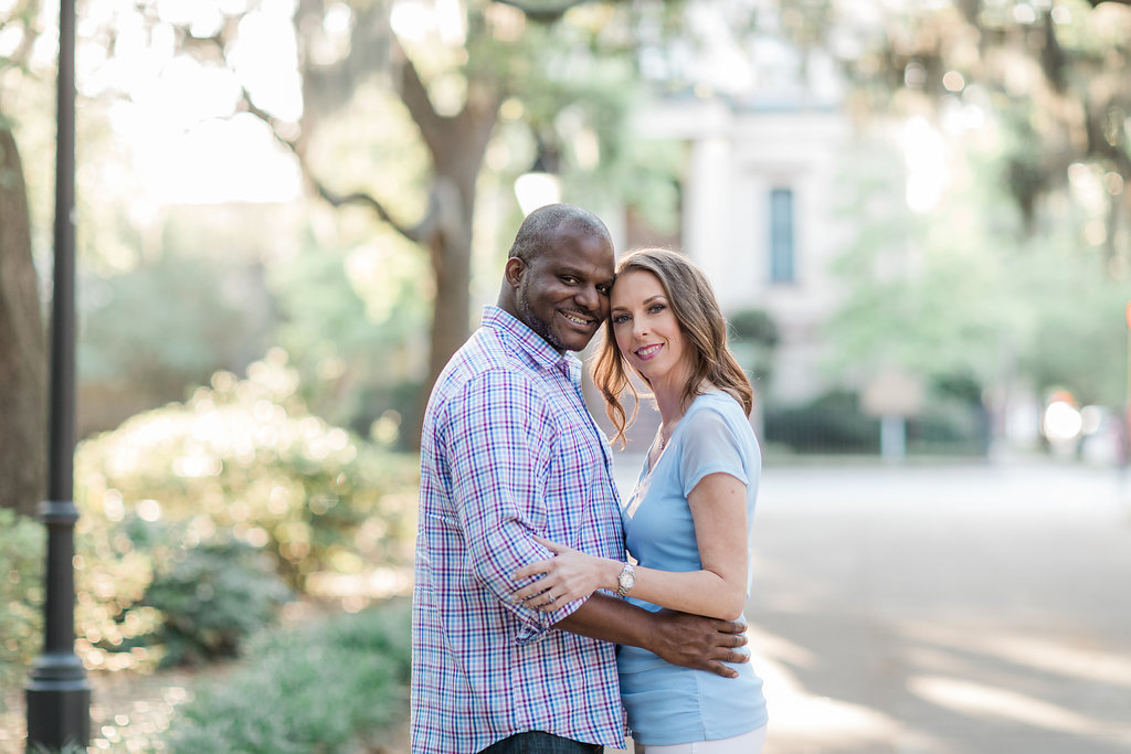 Forsyth Park engagement photographer