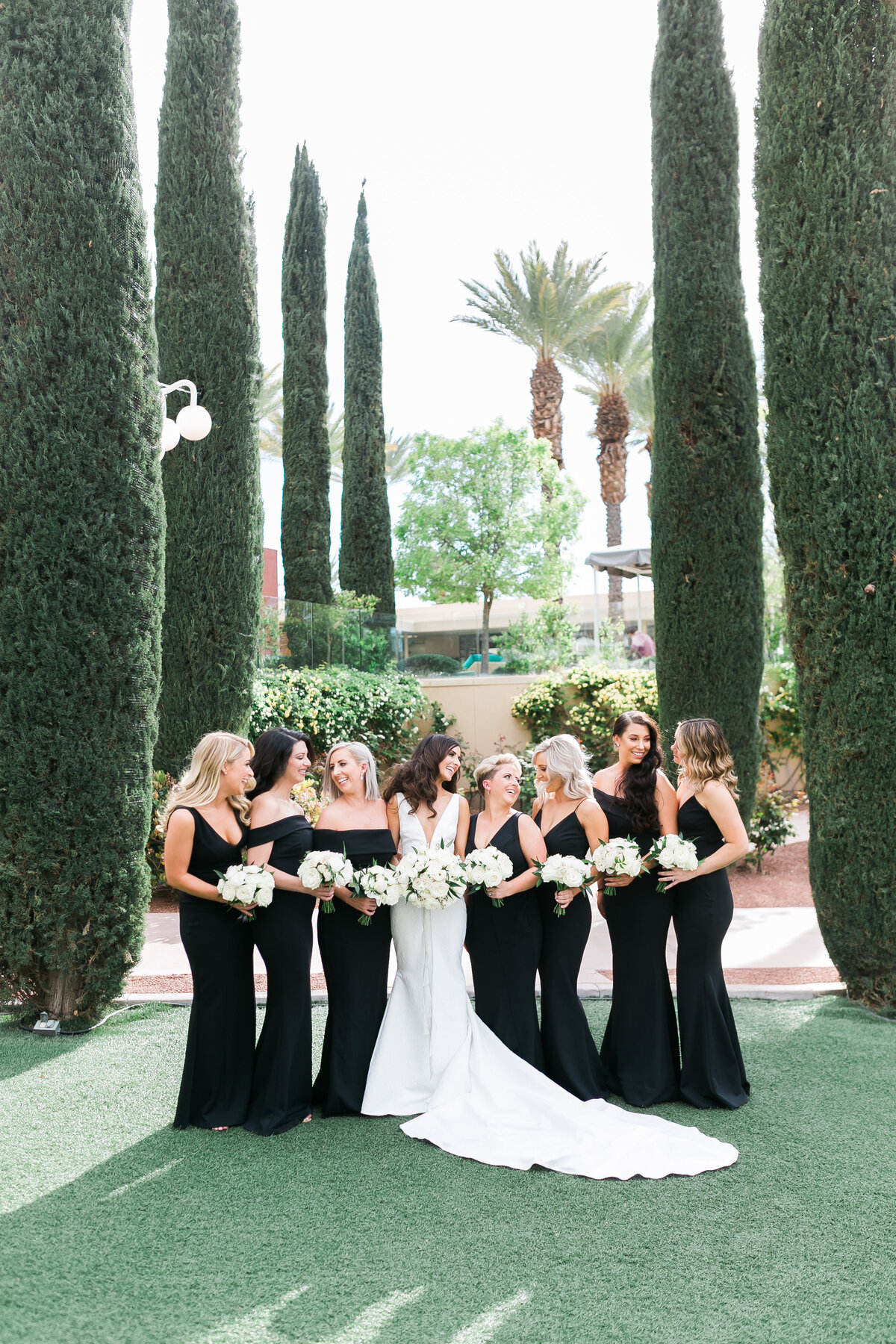 bride-and-bridesmaids-green-valley-ranch