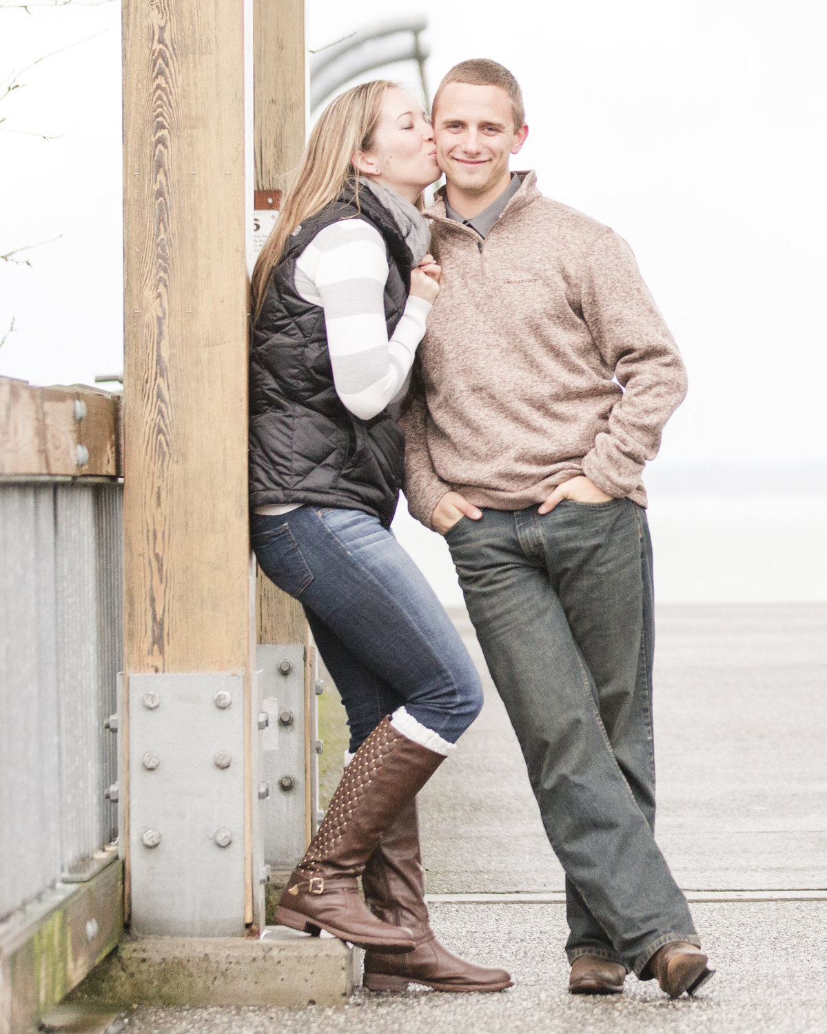 bellingham photographers boulevard park winter engagement