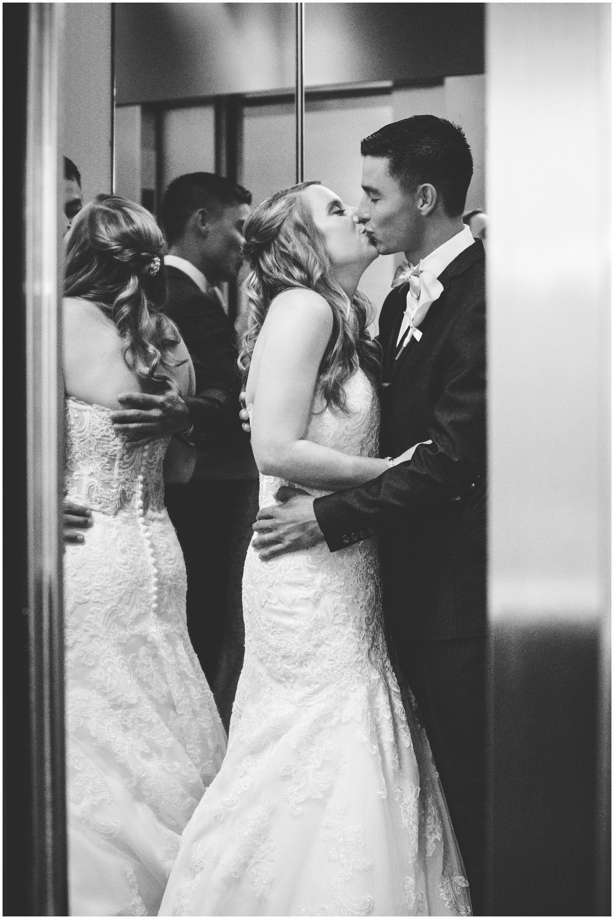Austin wedding photographer w hotel wedding photographer bride groom elevator