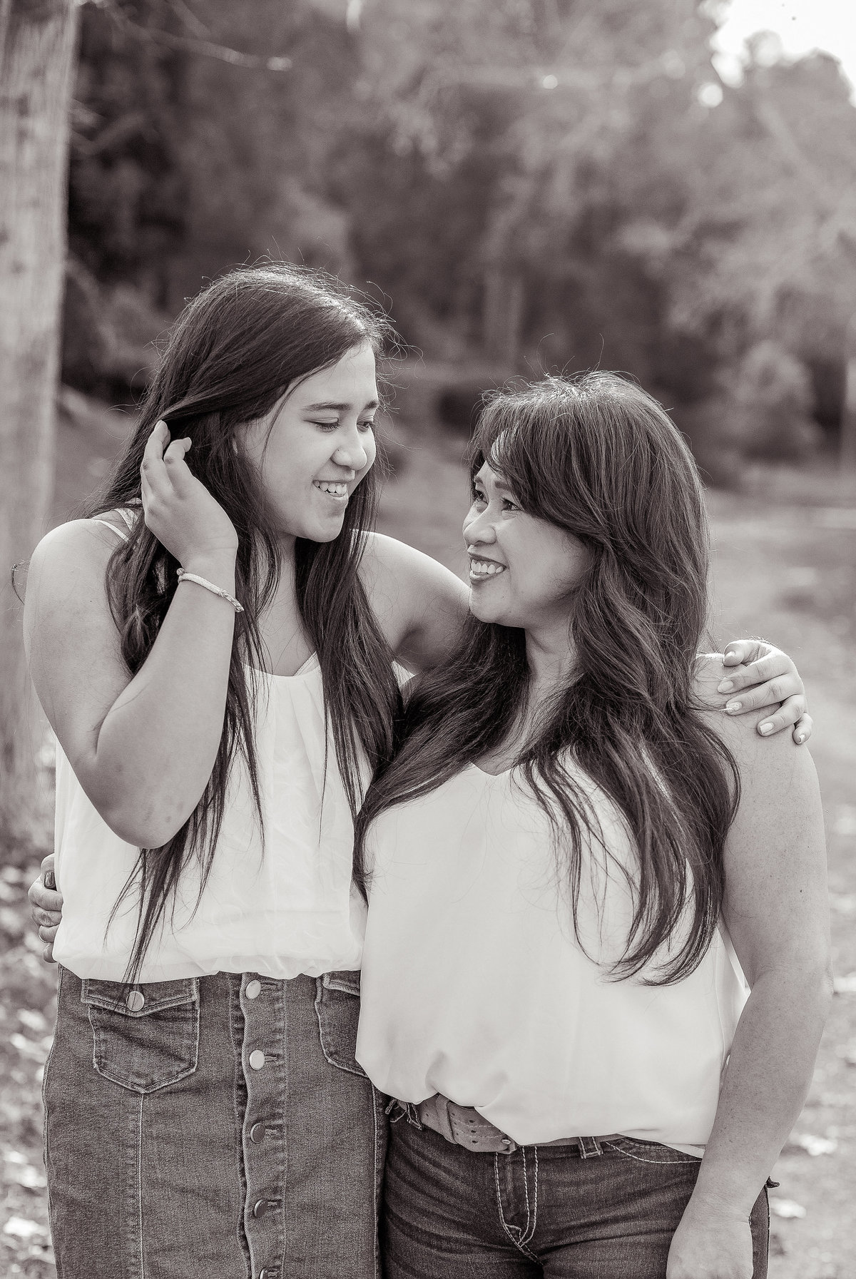 Mother Daughter Photos in Black and White