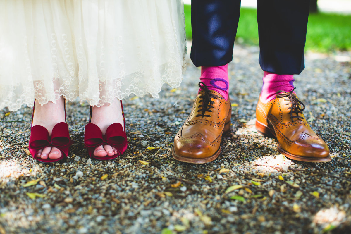 fun wedding photographer shoes and socks