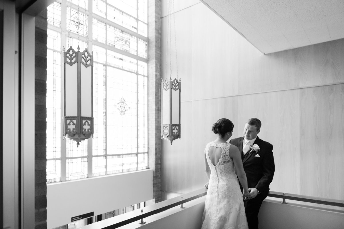 black and white church wedding photo Jonesboro AR