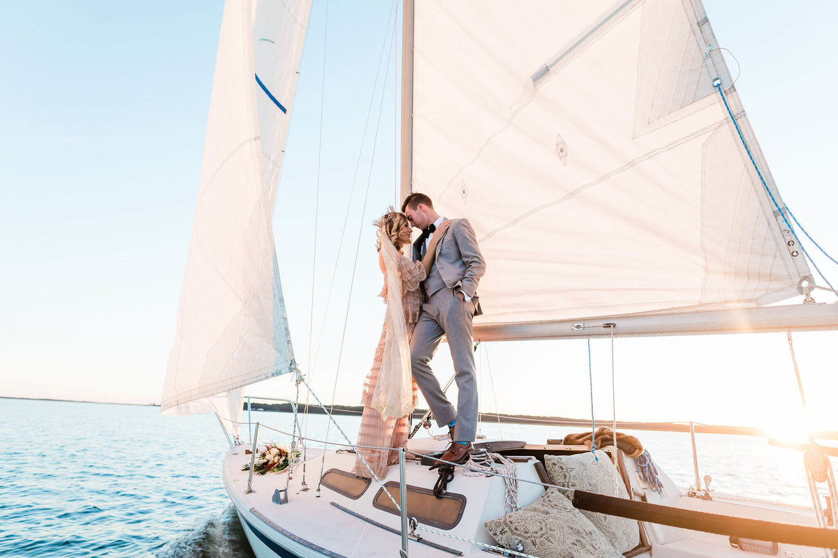 Sailboat Wedding by Apt. B Photography
