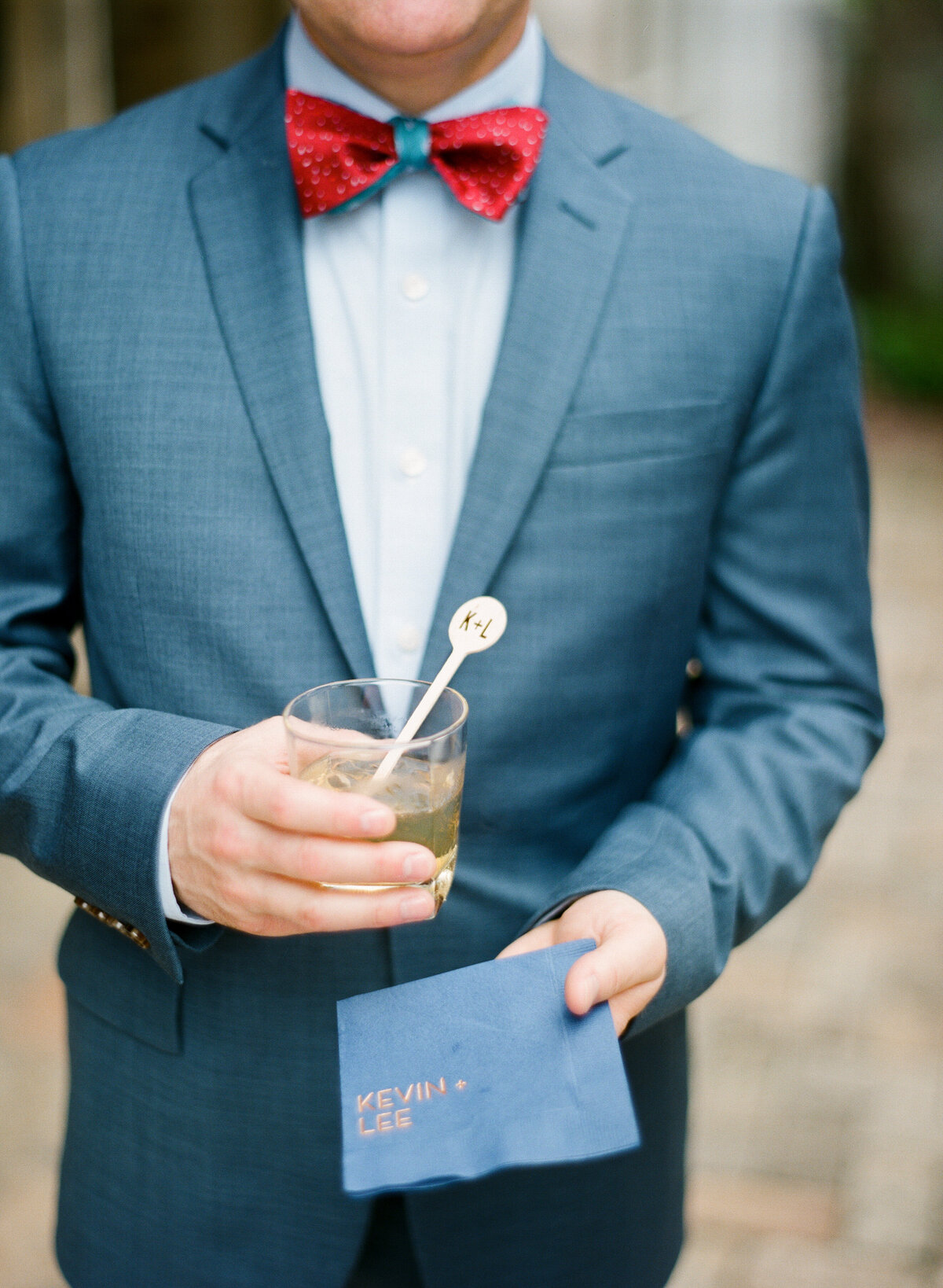 Wedding cocktail napkin