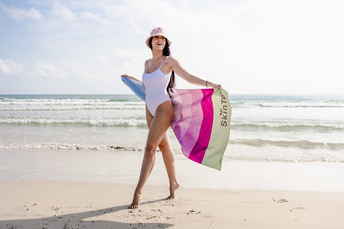 Beach towel product photography by Alex Perry