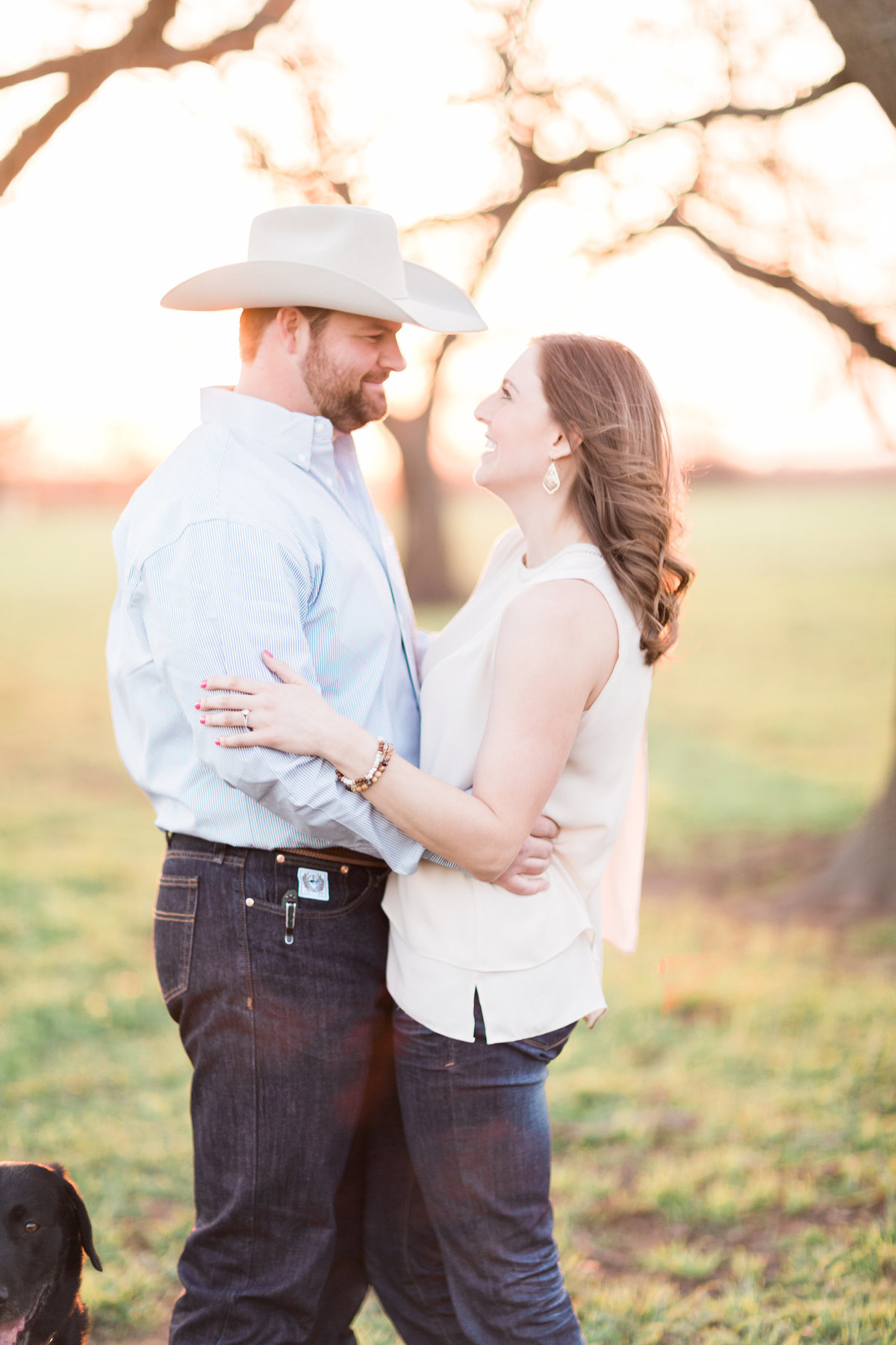Washita Valley Sod Farm Ardmore Engagement Session