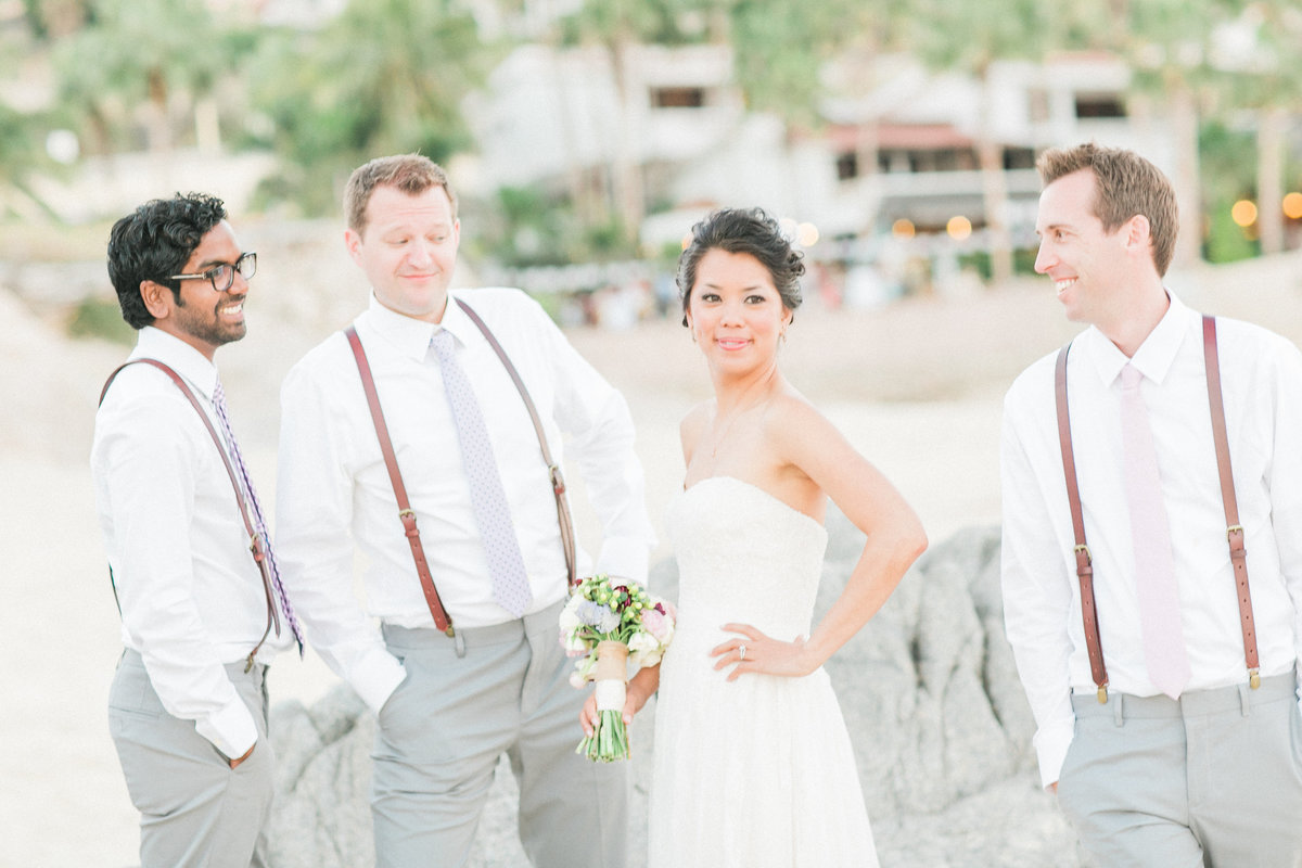 Beach Wedding Candid Moment